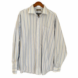 Claybrooke Blue Striped Collared Button Up Shirt